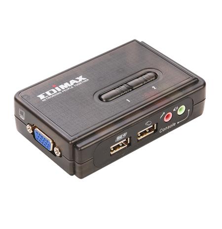 Edimax 350MHz High Bandwidth 2 Ports USB KVM Switch EK-UAK2
