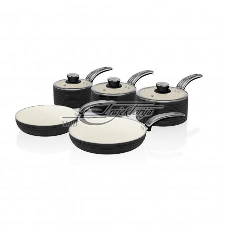 Pot set with ceramic coating Swan RETRO SWPS5020BN (20 cm, 28 cm)