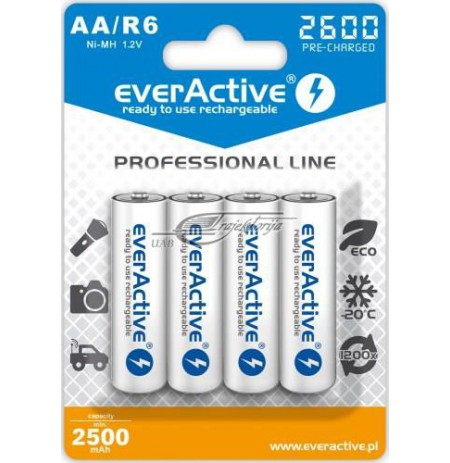 Rechargeable batteries everActive Professional line EVHRL6-2600 (2600mAh , Ni-MH)