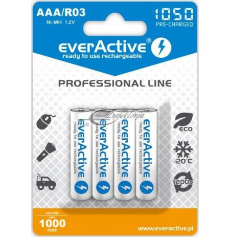Rechargeable batteries everActive Professional line EVHRL03-1050 (1050mAh , Ni-MH LSD)