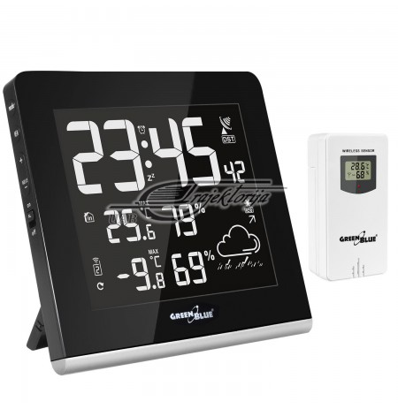 GREENBLUE WIRELESS WEATHER STATION 9 COLOURS GB151