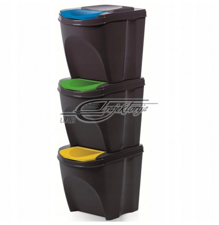 Basket dustbin Prosperplast SORTIBOX IKWB20S3-S433 (anthracite color)