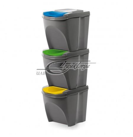 Basket dustbin Prosperplast SORTIBOX IKWB20S3-405U (gray color)