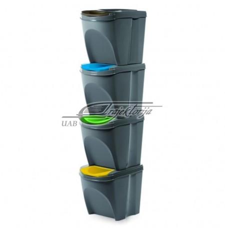 Basket dustbin Prosperplast SORTIBOX IKWB20S4-405U (gray color)