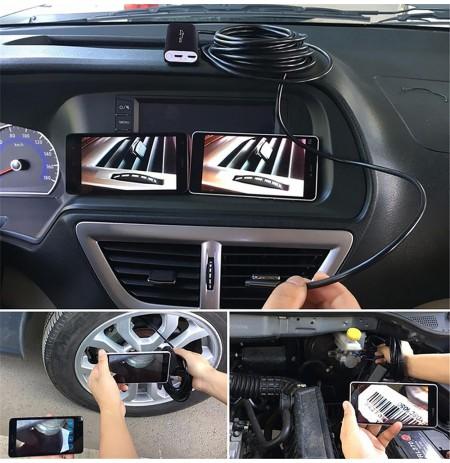 WIFI ENDOSCOPE - Endoscope, 5m, HD 720p, 6x LED light, IP67
