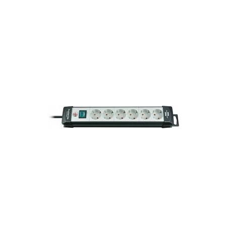Brennenstuhl Premium line, prailgintuvas 6xCEE 7/4, 1xCEE 7/7, jungtukas, apsauga nuo augintinių, 5m, juodas / pilkas1951560101