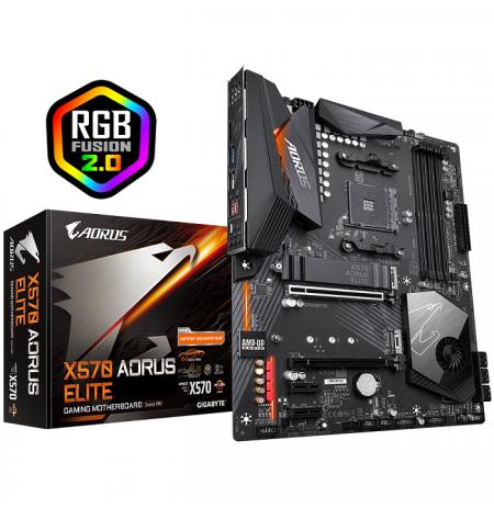 Gigabyte X570 AORUS ELITE, AMD X570, DDR4, 2 x M.2 Socket 3, 6 x SATA 6Gb/s
