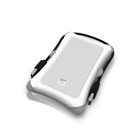 SILICON POWER 1TB, PORTABLE HARD DRIVE ARMOR A30, USB 3.0, WHITE