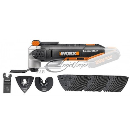 Multitool sonicrafter 20v be akum. WX678.9 Worx