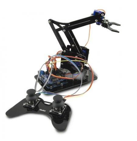 Ebotics Arm Robot Robotics And Programming Kit Dyi With Double Joystick Gamepad By KSIX Black
