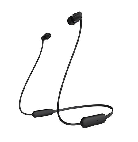 Sony Headphones WIC200B In-ear, Wireless connection, Black