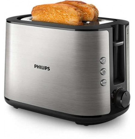 Toaster Philips Viva Collection HD2650/90 (950W, silver color)