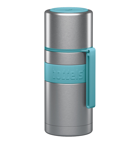 Boddels HEET Vacuum flask with cup Turquoise blue, Capacity 0.35 L, Diameter 7.2 cm, Yes