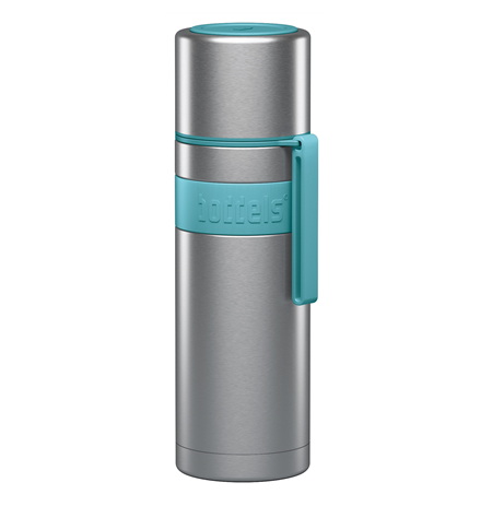 Boddels HEET Vacuum flask with cup Turquoise blue, Capacity 0.5 L, Diameter 7.2 cm, Yes