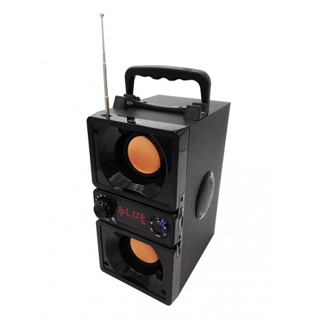 BOOMBOX DUAL BT - BLUETOOTH 5.0 SUBWOOFER SPEAKER 2.2 with FM RADIO & MP3 PLAYER