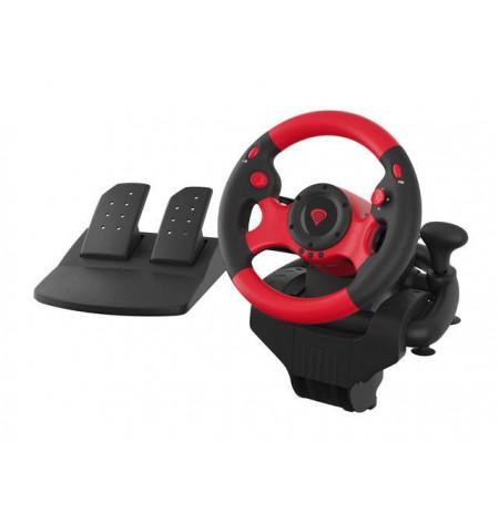 Steering wheel NATEC Genesis Seaborg 300 NGK-1565 (PC, black and red color)