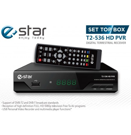 eSTAR DVBT2 536 HD Black