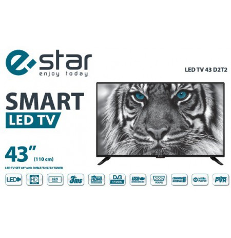 eSTAR LED TV Smart 109cm LEDTV43D2T2