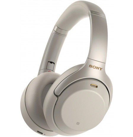 Headphones with microphone Sony WH1000XM3 (silver color