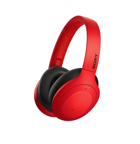 Sony WHH910NR Over-ear, Noice canceling, Wireless, Yes, Red