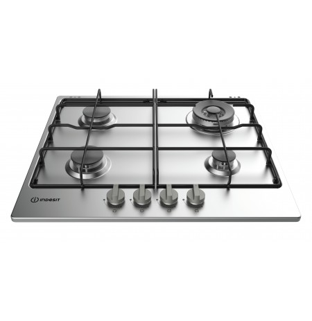 Indesit THP 642 W/IX/I RU hob Stainless steel Built-in Gas 4 zone(s)