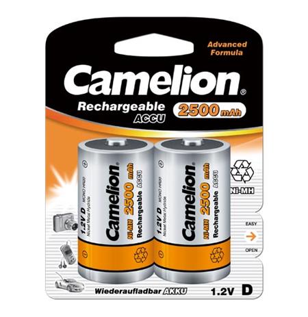 Camelion D/HR20, 2500 mAh, Rechargeable Batteries Ni-MH, 2 pc(s)