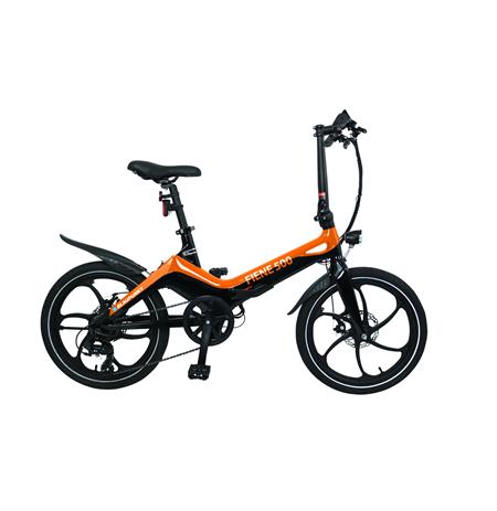 """Blaupunkt Fiene 500, E-Bike, 250 W, 20 """", 25 km/h, Orange/Black"""