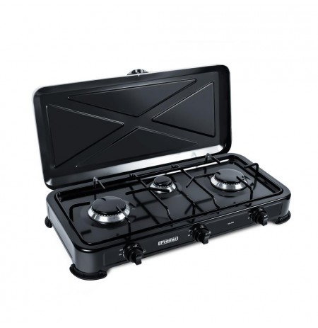 Gas cooker PROMIS KG300 BLACK WITHOUT REDUCER