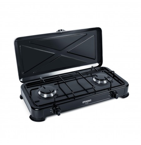Gas cooker PROMIS KG200 BLACK WITHOUT REDUCER