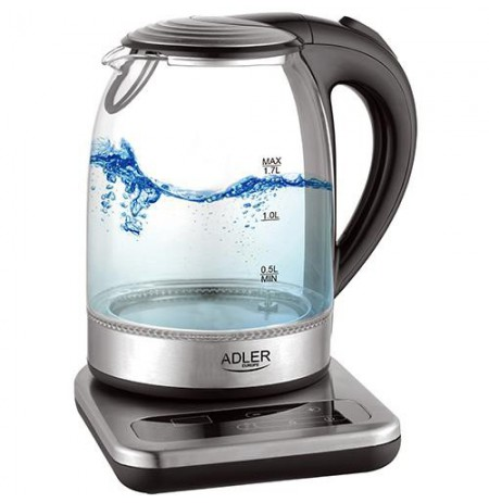 Adler AD 1293 electric kettle 1.7 L Black,Transparent 2200 W