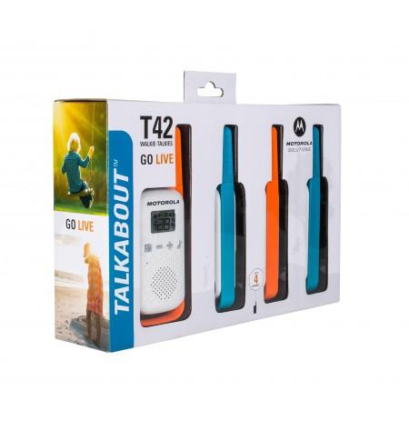 Motorola TALKABOUT T42 two-way radio 16 channels Blue,,Orange,White