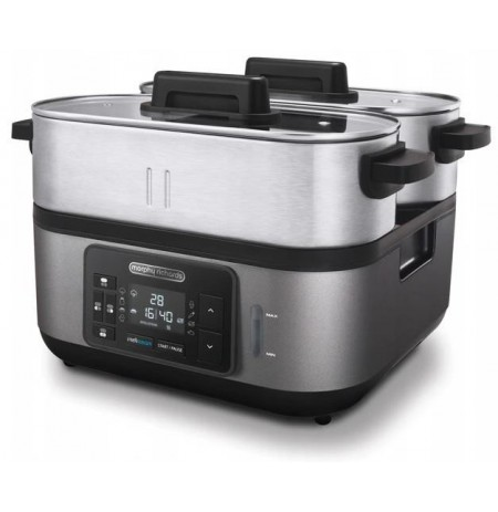 Morphy Richards 48780 steam cooker 3 basket(s) Black,Stainless steel 1600 W