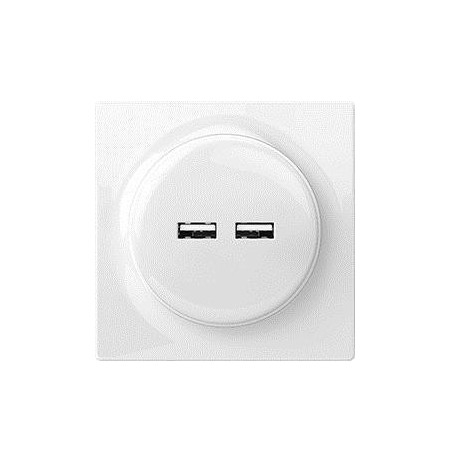 Fibaro Walli N socket-outlet 2x USB White