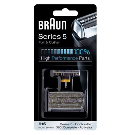 Braun 51S Head Replacement Pack Black