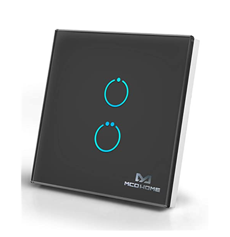 MCO Home Glass Touch Switch GEN5 Z-Wave Plus