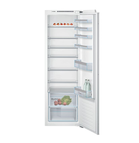 Bosch Refrigerator KIR81VFF0 A++, Built-in, Larder, Height 82 cm, Fridge net capacity 319 L, 37 dB, White