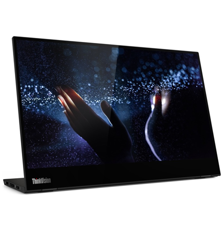 "Lenovo ThinkVision M14t 14 "", Touchscreen, IPS, FHD, 1920 x 1080, 16:9, 6 ms, 300 cd/m², Black, 2 x USB 3.2 Type-C"