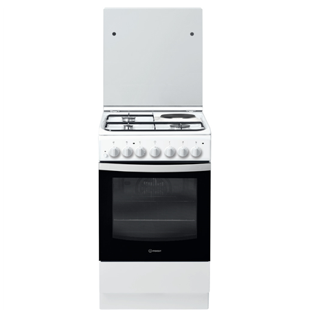 INDESIT Cooker IS5M5PCW/E Hob type 3 Gas + 1 Electric