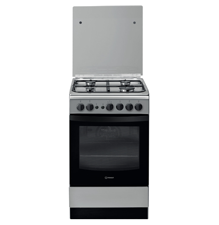 INDESIT Cooker IS5G1PMX/E Hob type Gas, Oven type Electric, Inox, Width 50 cm, Grilling, 59 L, Depth 60 cm