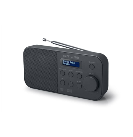 Muse Alarm function, M-109DB, Portable radio, Black