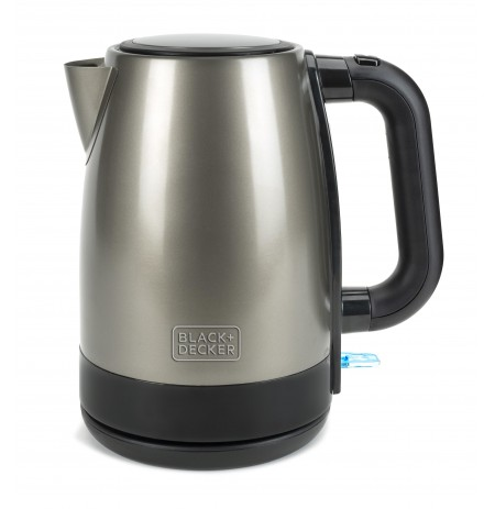 Black & Decker BXKE2201E electric kettle 1.7 L 2200 W Black, Stainless steel