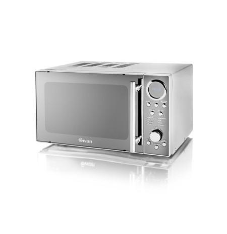 Swan SM3080N microwave Countertop 20 L 800 W Chrome, White