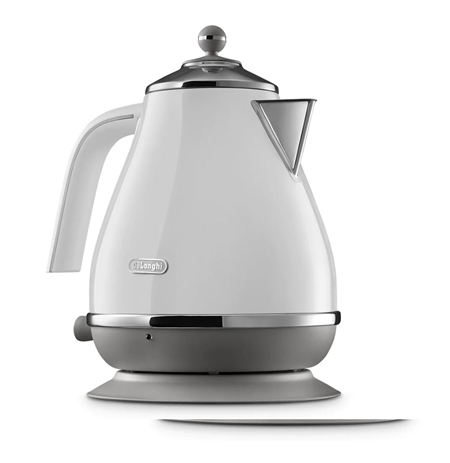 Delonghi Kettle KBOC2001W Electric, 3000 W, 1.7 L, Stainless steel, 360° rotational base, White