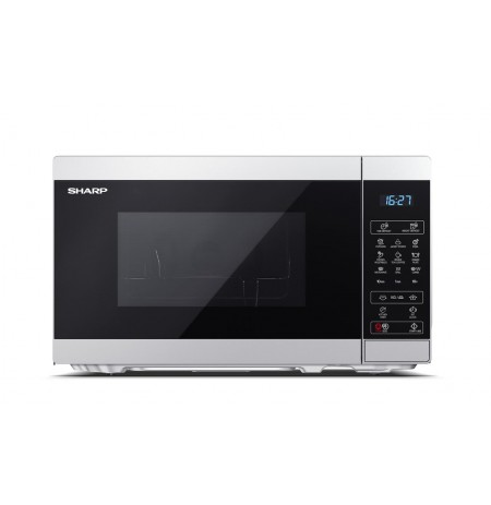 Cooker microwave SHARP YC-MG02E-S (800W, 20l, silver color)
