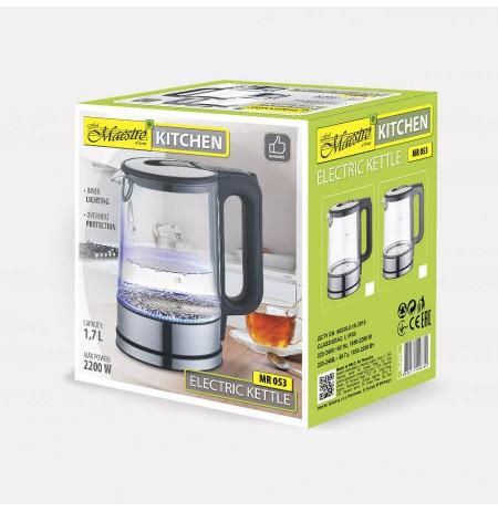 Electric kettle MAESTRO MR-053-GRAY glass 1.7 l 2200 W