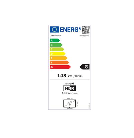 """LG 75UP80003LR 75"""" (189 cm), Smart TV, WebOS, 4K UHD, 3840 x 2160, Wi-Fi, DVB-T/T2/C/S2, Black"""