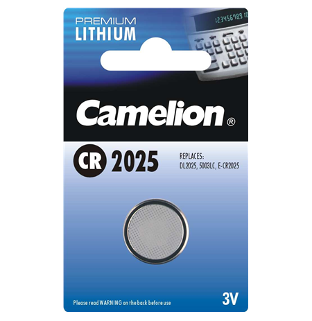 Camelion Lithium Button celles 3V (CR2025), 1-pack