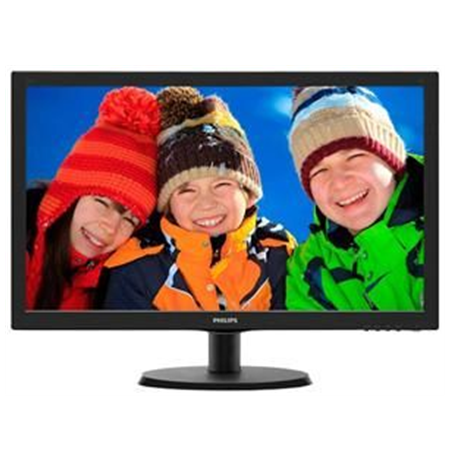"PHILIPS 223V5LHSB 21.5"" LED/16:9/1920x1080/250cdm2/5ms/H-170,V-160/10M:1/VGA,HDMI/Audio In,Out/Tilt,Vesa/Black"