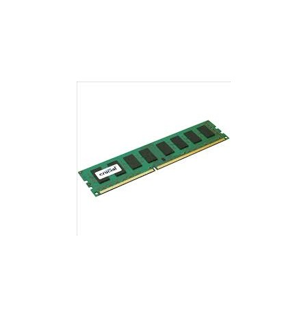 Crucial 4GB, UDIMM, DDR3 1600MHz, CL11, Unbuffered, non ECC, PC3-12800, 1.35V
