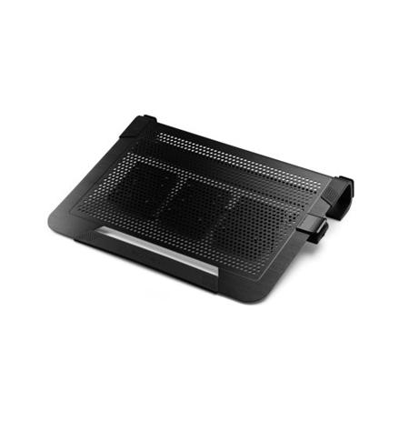 "Cooler master notebook cooler ""Notepal U3 PLUS"" for up to 19"" nb, 3x80 mm  fan, black"